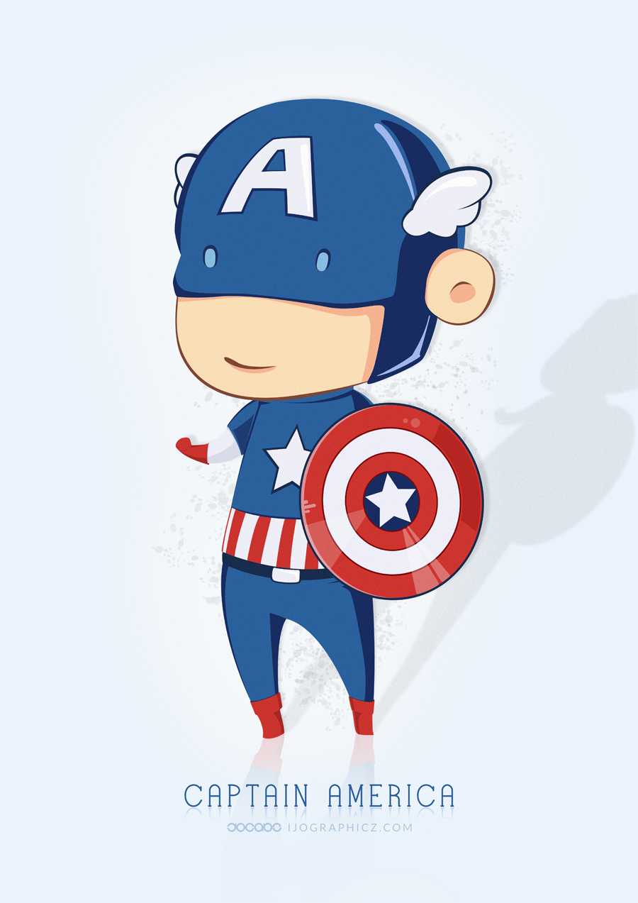 Captain America Chibi by ijographicz