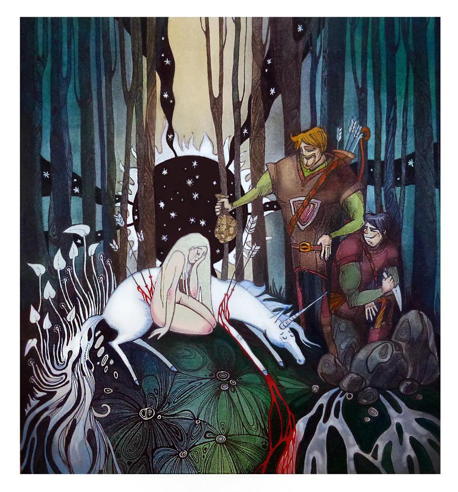 Died Unicorn by Bog-Valenok