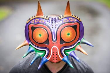 Leather Majora's Mask by DarkHarvestLeather
