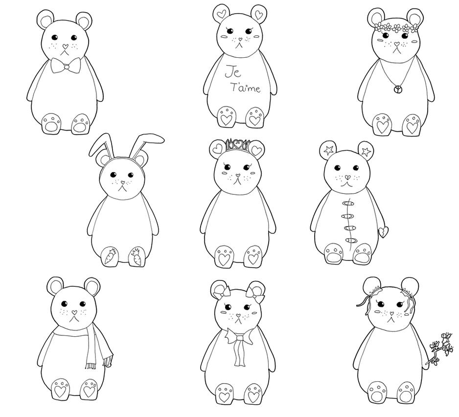 Teddy bears by Toffu-x