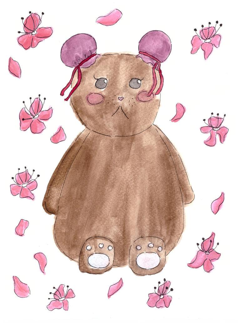 Sakura Cherry - Teddy Bear by Toffu-x