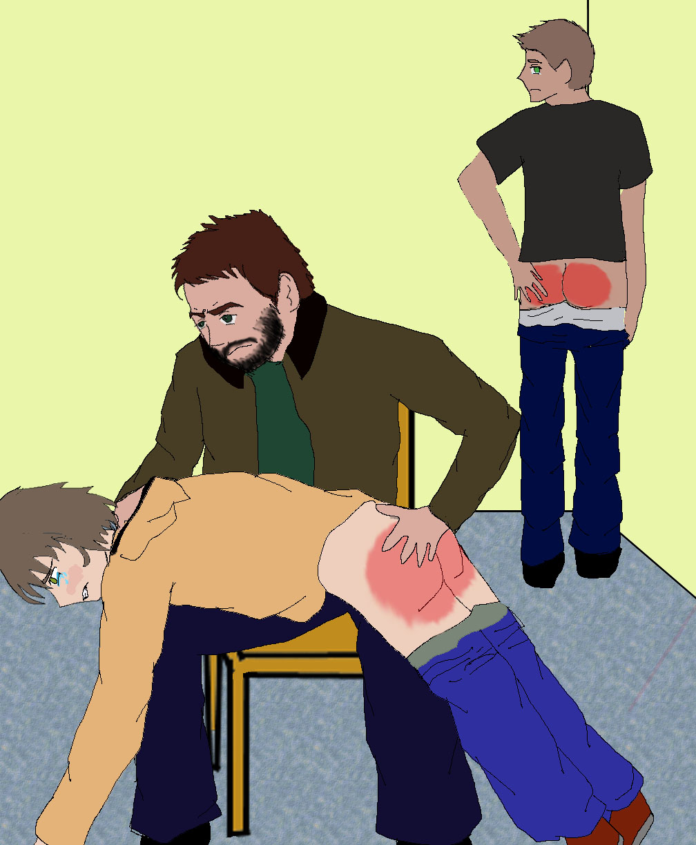 John spanking Sam and Dean by AkatsukiSpanking