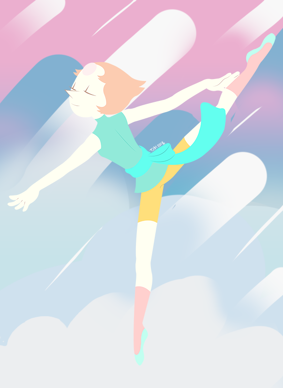 Made a lineless art of Pearl. My most favorite gem from Steven Universe