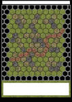 High Rez Hex Battle Map Print and Play Green Lands
