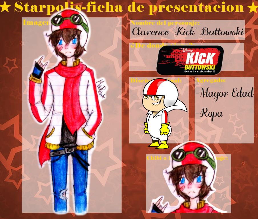 Ficha Starpolis: -Clarence 'Kick' Buttowski- by MadPan-Inc