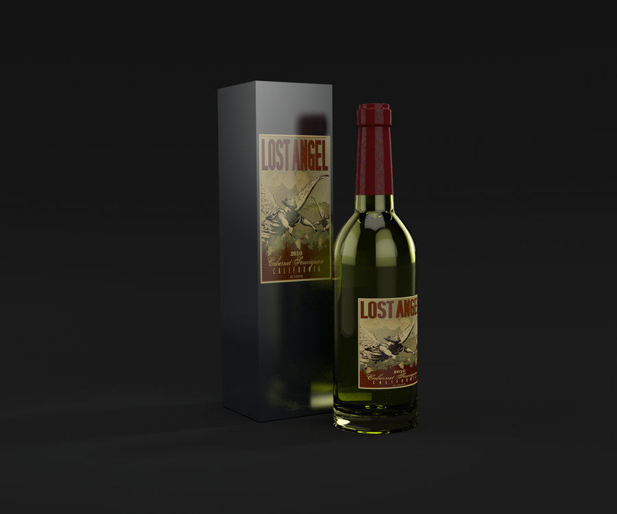 Wine Bottle Blender cycles render by yelkenlin