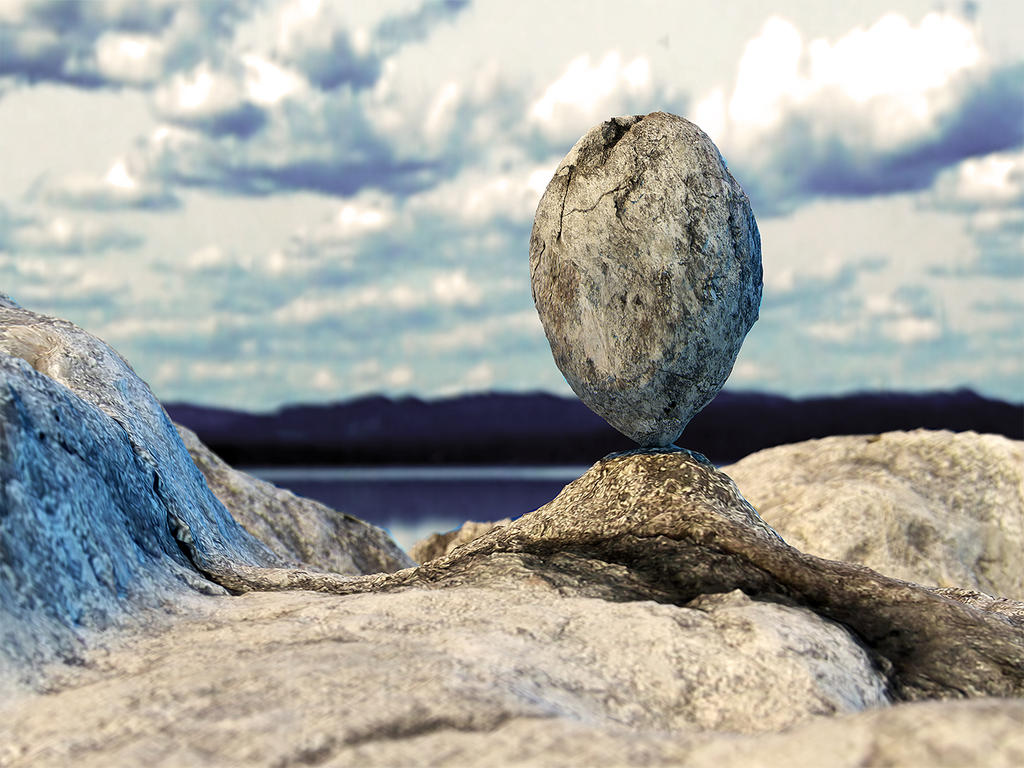 balanced 3d stone by yelkenlin