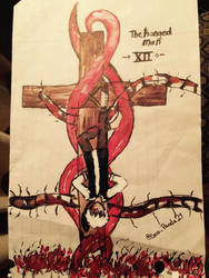 Kaneki The Hanged Man (tarot card XII) by CocoPanda21