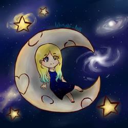 Monachella's Starry Chibi by CocoPanda21