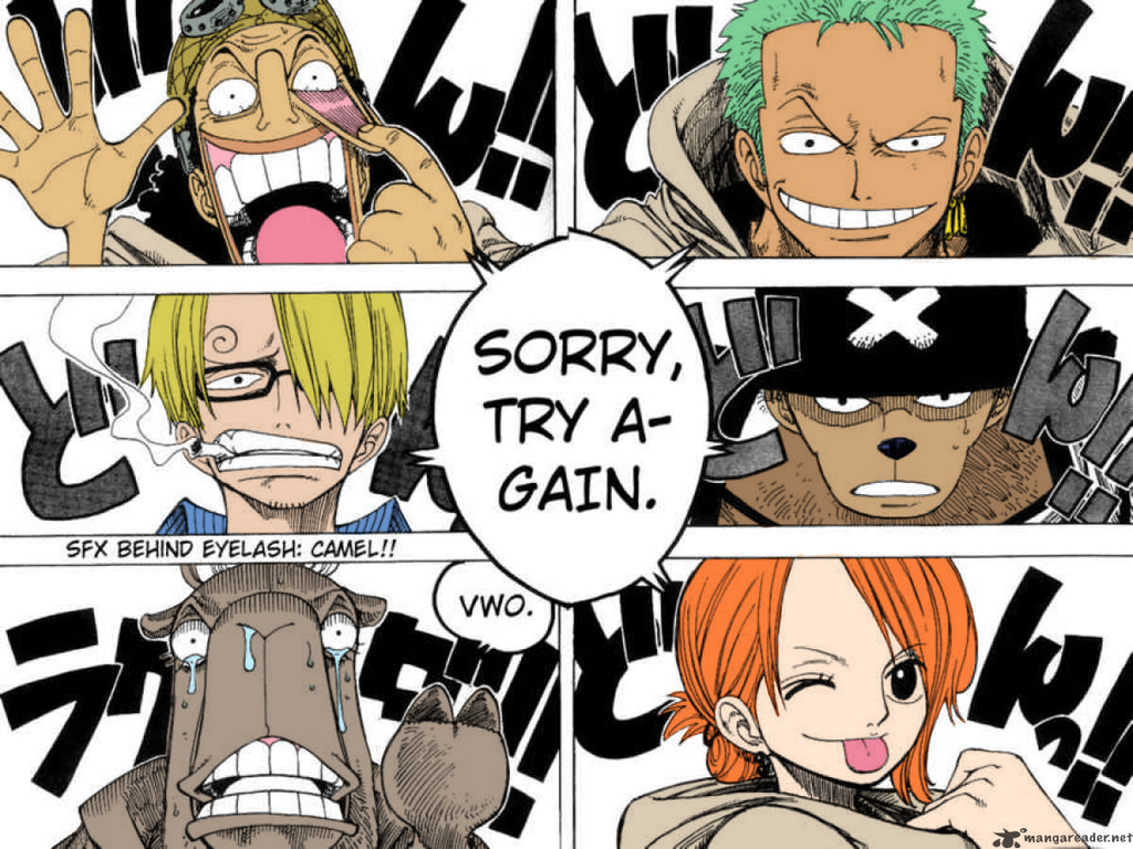 One piece Manga coloring by vLine-Designs