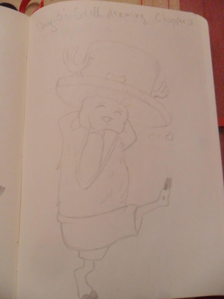 Tony Chopper drawing 4 by vLine-Designs