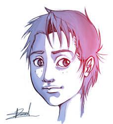 Leo's face by D-SuN
