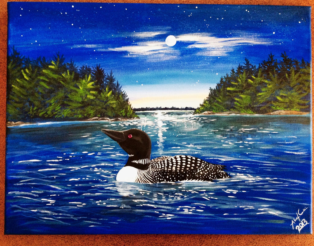 Loon painting - photo#9