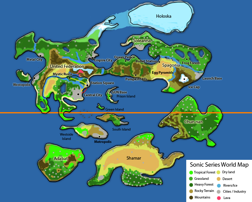 Sonic Series World Map by litesonicspeed on DeviantArt