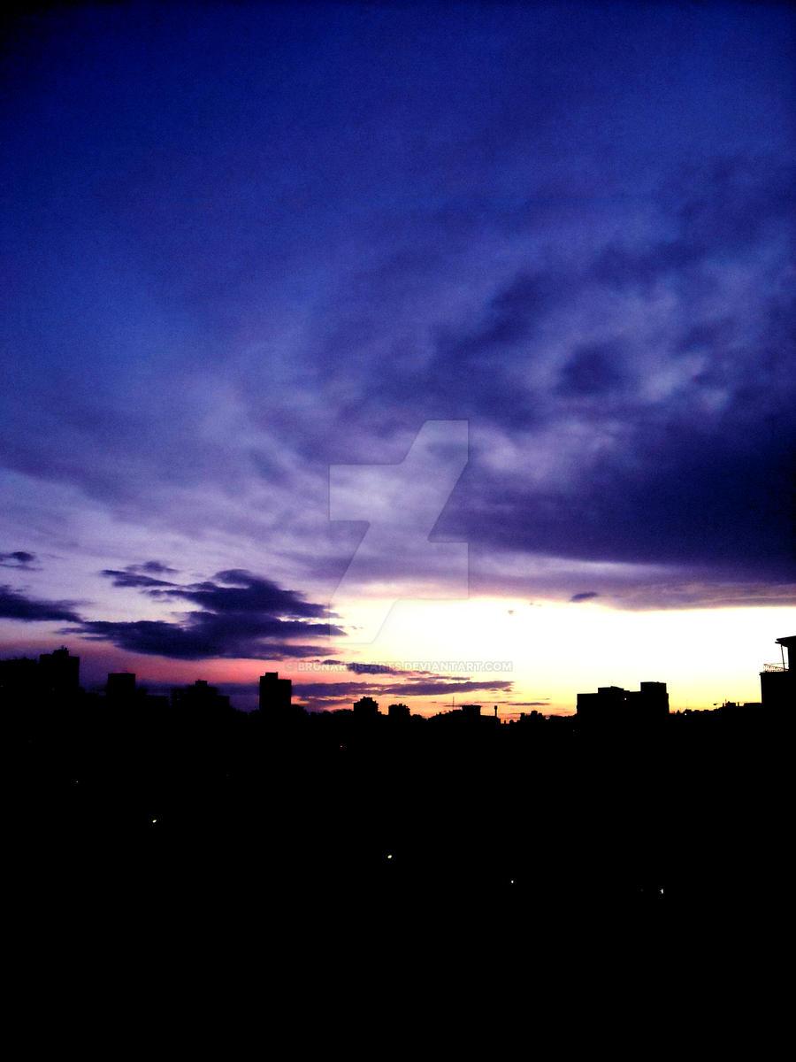 Purple Sky by brunareis-arts