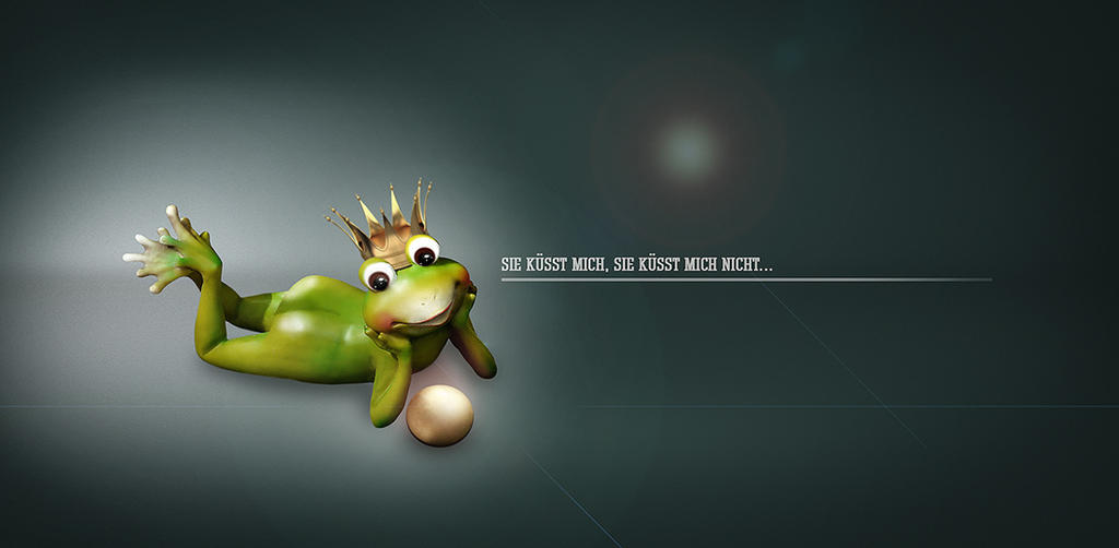 The Frog Prince (she kiss me, she kiss me not) by SuicideOmen on DeviantArt