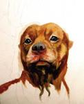 WIP - Pitbull painting