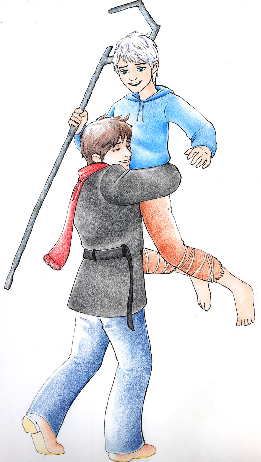 Jack Frost and Jamie Bennett Reunion by Slashtastic
