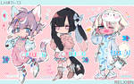 [AUCTION*CLOSED] Lineheart*11-13 by Relxion-kun