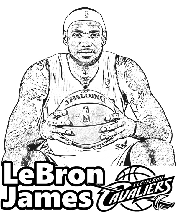 LeBron James Coloring Page Topcoloringpages By