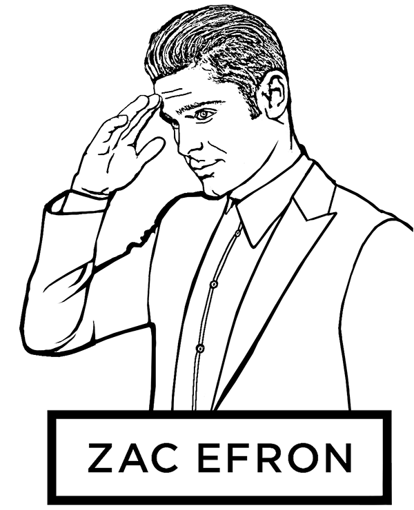 Zac Efron Coloring Page By Topcoloringpages On Deviantart