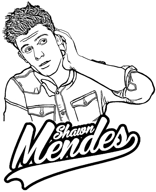 Shawn Mendes printable coloring page by Topcoloringpages on DeviantArt
