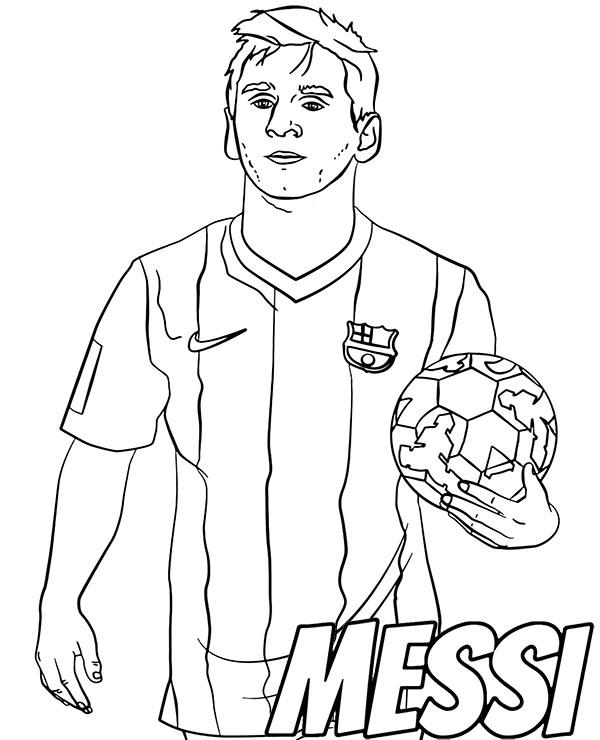 Football player Messi coloring sheet by Topcoloringpages ...