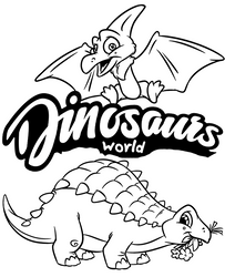 Two dinosaurs for coloring by Topcoloringpages