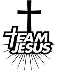 Team Jesus logo - coloring page by Topcoloringpages