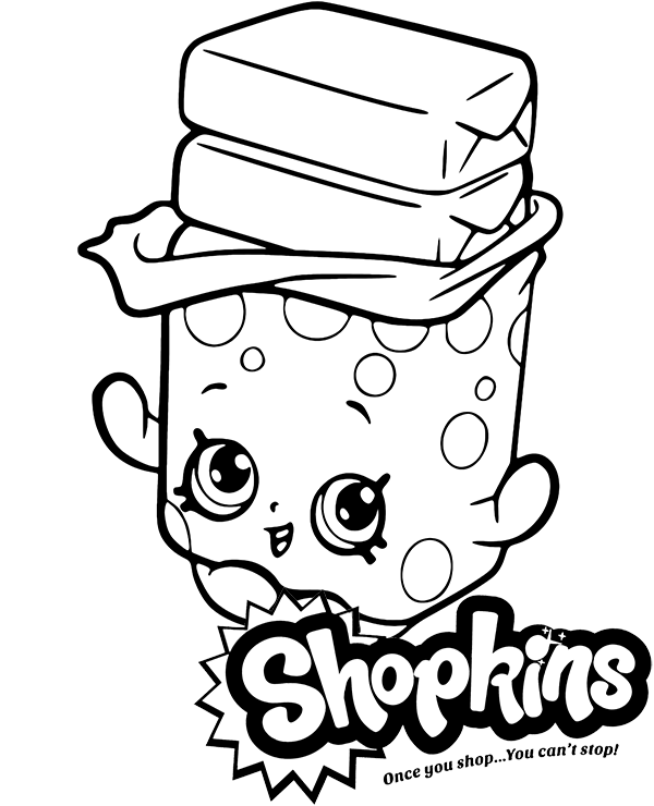 Shopkins bubble gum coloring page by Topcoloringpages