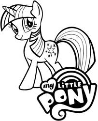 My Little Pony picture with logo by Topcoloringpages