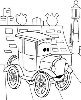Lizzie Cars coloring page