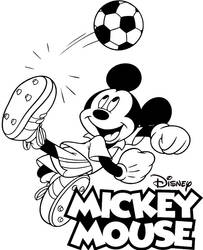 Mickey Mouse coloring page for kids