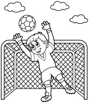 Soccer coloring page football goalkeeper