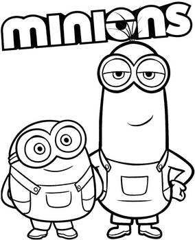 Two Minions coloring sheet