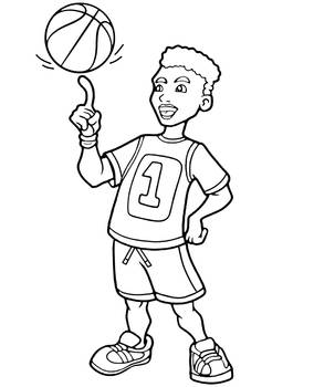 Basketball player coloring page