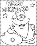 Funny coloring page Santa Merry Christmas by Topcoloringpages