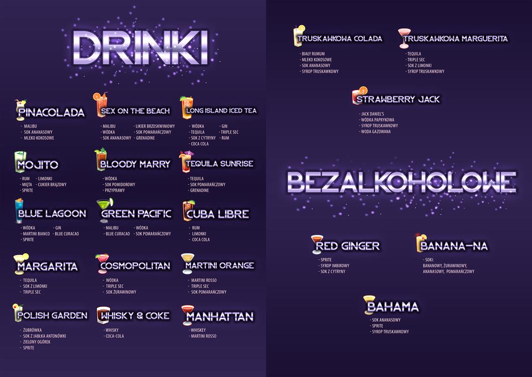 cocktails card by jestemejmi on deviantart