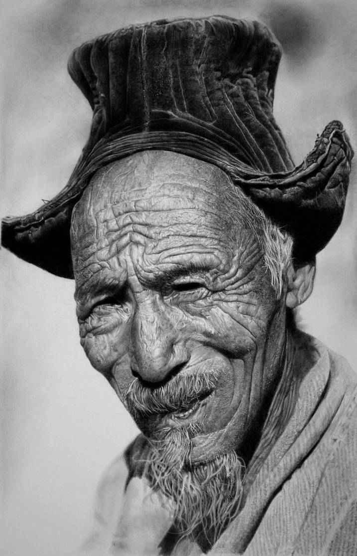 Old man pencil by francoclun