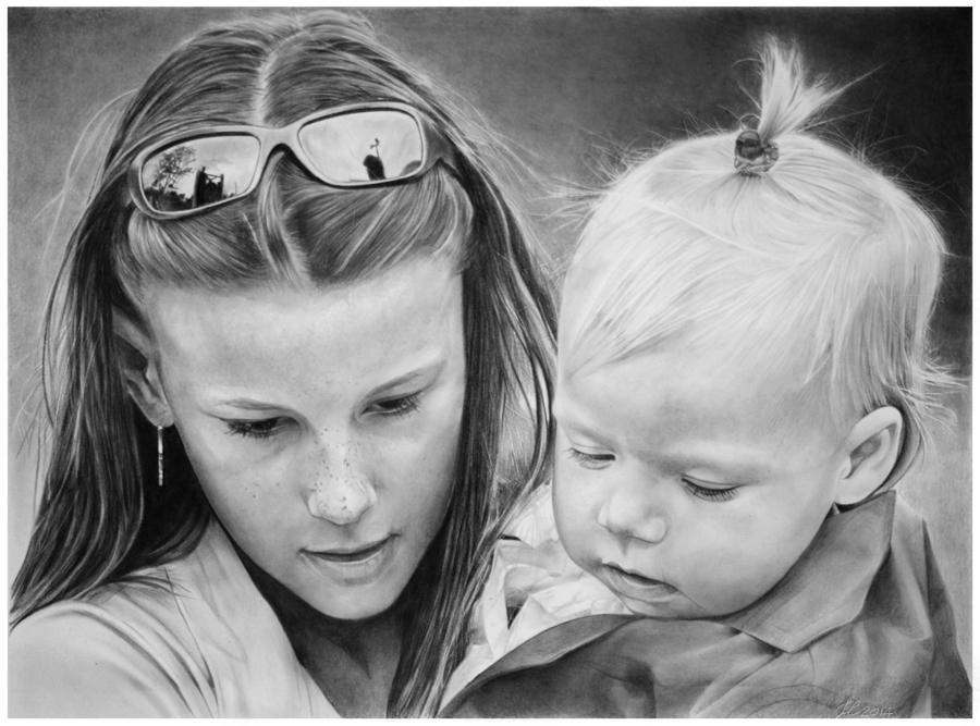 dibujos - Franco Clun....................dibujos hiperrealistas...............Un espectaculo¡¡¡ Children_by_francoclun-d7cc4ze