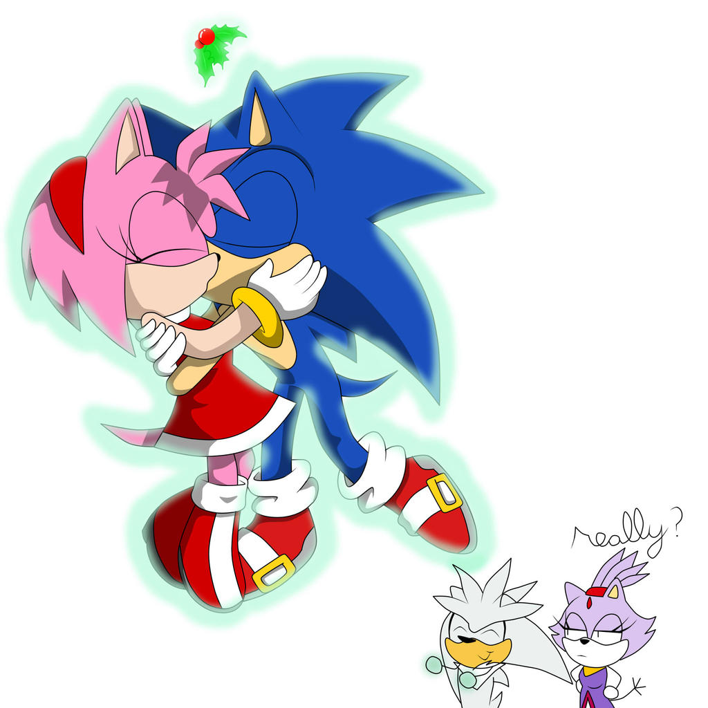 SONAMY under the missletoe by GothicSnowflake