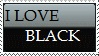 ILoveBlack Stamp by Tsiki10