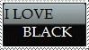 ILoveBlack Stamp by Tsiki10
