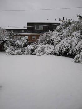 Heavy snow in April