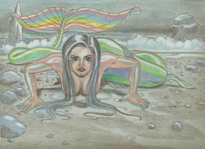 Rainbow Mermaid Blue