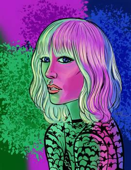 Atomic Blonde in Neon
