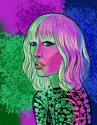 Atomic Blonde in Neon
