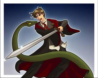 Neville vs. Nagini by Harry-Potter-Spain