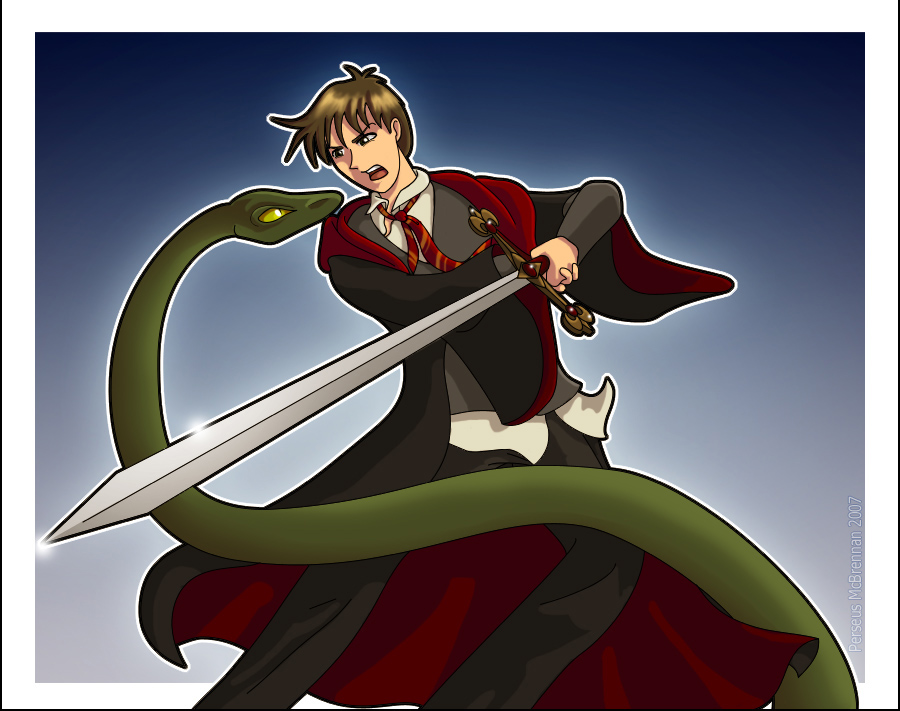 Neville vs. Nagini by Harry-Potter-Spain on DeviantArt