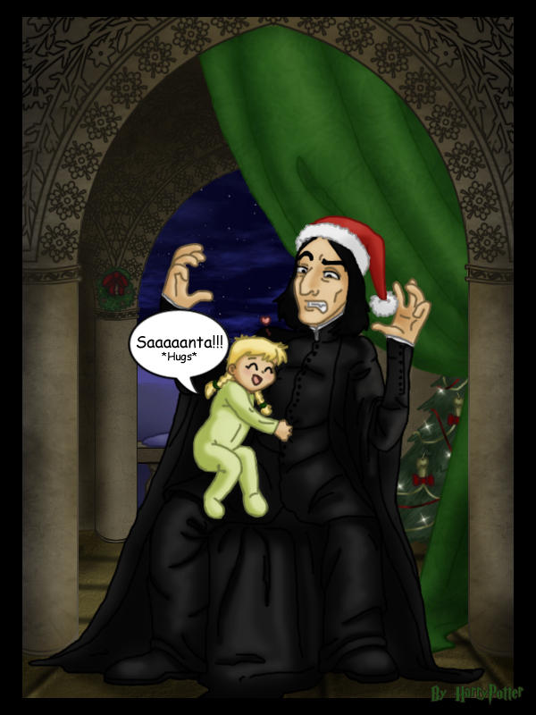 Santa Snape by Harry-Potter-Spain